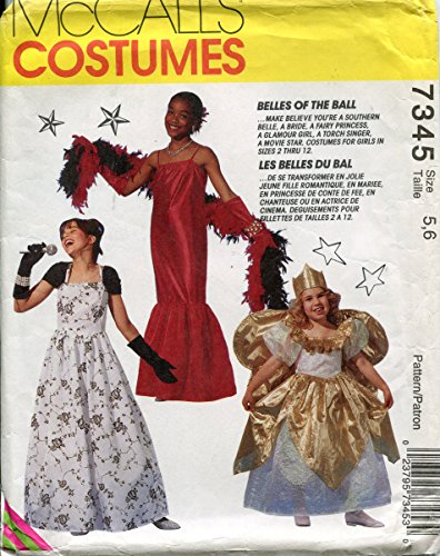 McCall's 7345 Sewing Pattern Girls Costumes Southern Belle