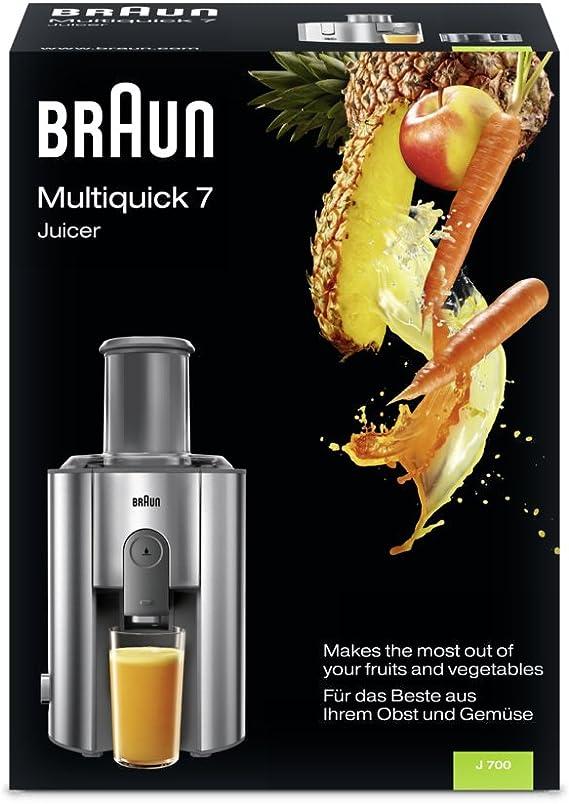 Braun Multiquick 7 Juicer J 700 Exprimidora de zumo, 1000 W, acero ...