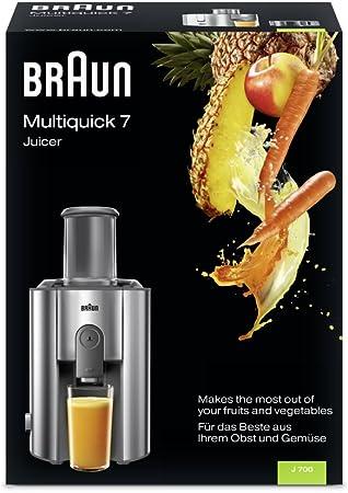 Braun Multiquick 7 Juicer J 700 Exprimidora de zumo, 1000 W, acero inoxidable: Amazon.es: Informática