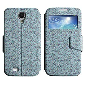 Be-Star Diseño Impreso Colorido Slim Casa Carcasa Funda Case PU Cuero - Stand Function para Samsung Galaxy S4 IV / i9500 / i9505 / i9505G / SGH-i337 ( Small Flowers )