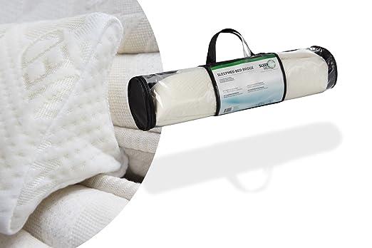 SLEEPMED Banda para unir dos colchones | Puente para unir colchón individual | Funda de cama doble | Cuña de Camas Gemelas Blanca | 200x15x7cm: Amazon.es: ...