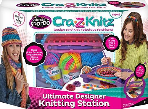 Cra Z Knitz Knitting Station Neon Deluxe