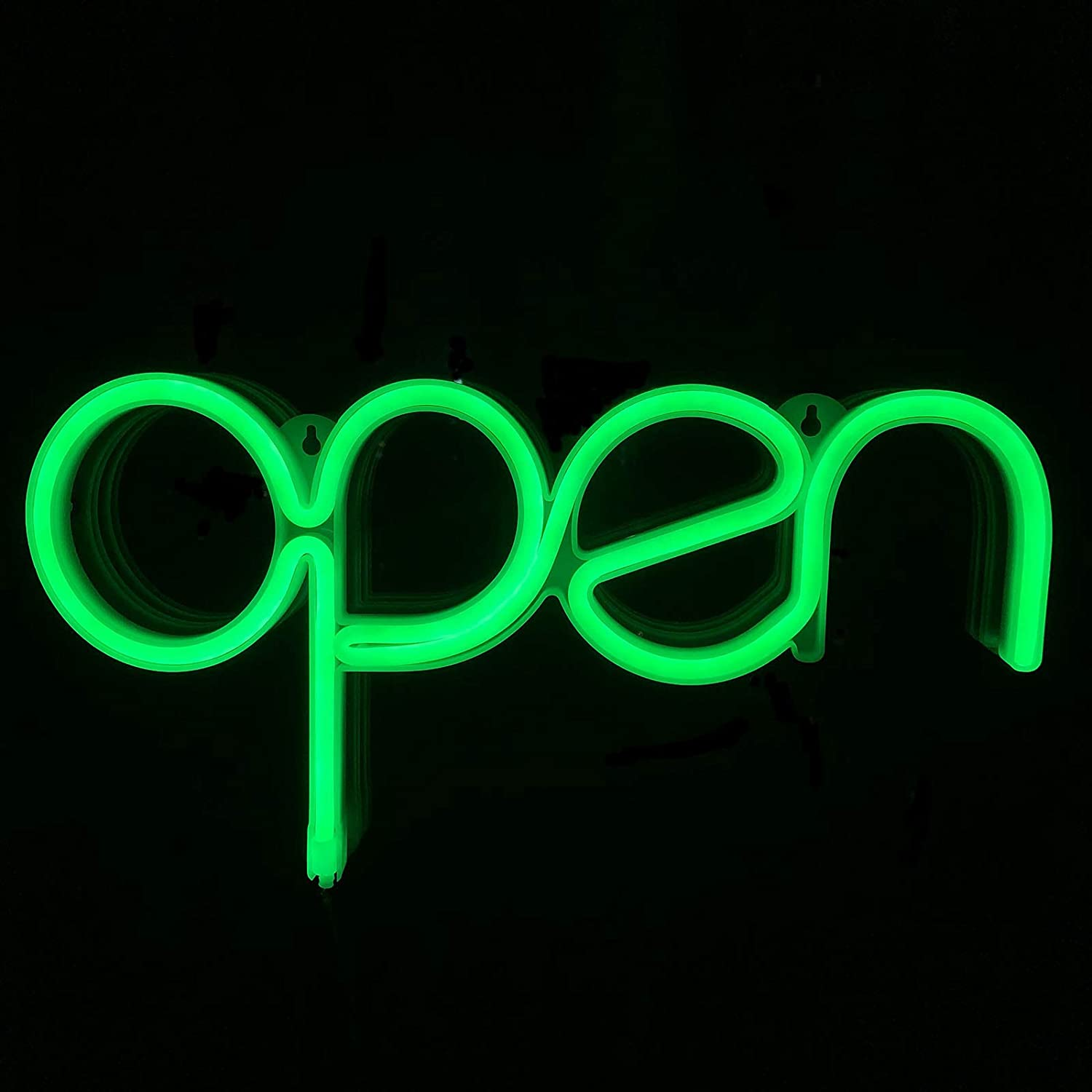 Open Neon Sign for Window Displaying Light 15.5x8.4 inch,Long Cord 11.5 FT LED Green Open Sign for Business,CBD Dispensary,Massage,Tattoo Store,Bar,Man Cave,Barber Shop,Retail Store(OG)