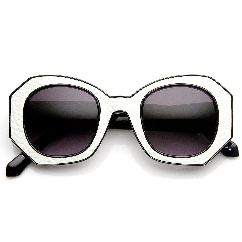zeroUV - High Fashion Block Cut Hexagonal Womens Sunglasses