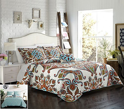 Chic Home 4 Piece Montreuil Large Scale Bohemian Paisley REV