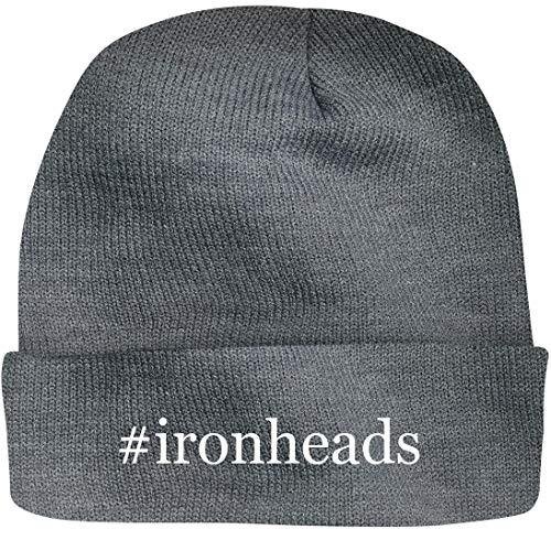 SHIRT ME UP #Ironheads - A Nice Hashtag Beanie Cap, Grey, OSFA (Ironhead Cam)