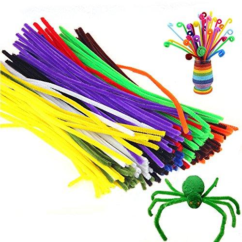 kids-novelty-toy-ftxj-100-pcs-plush-stick-diy-shilly-handmade-flocking-pipe-toy