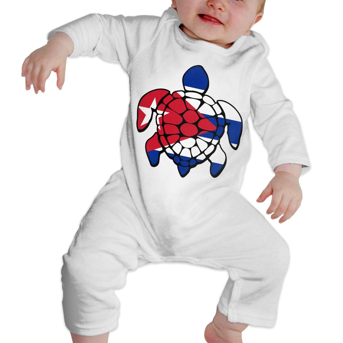 Baby Boy Coverall Cuba Flag Turtle Baby Clothes