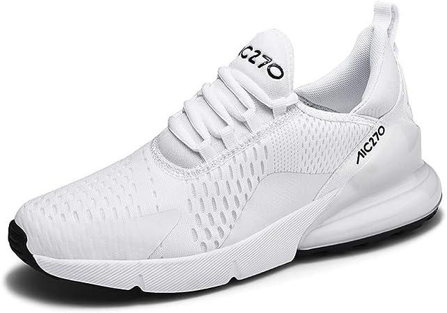 LFLDZ - Zapatillas de Running para Hombre MS Road, par de Zapatillas para Entrenar Personalidad, Transpirables, Resistentes al Desgaste, para Atletismo, Correr, Fitness, Blanco, 39: Amazon.es: Hogar