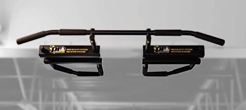 PRO Mountings I-Beam Pull Up Bar Black w Long Bent Bar 5-Grip