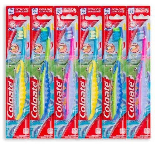 Brosse à dents Colgate Smiles enfants avec la langue propre (6 pack)