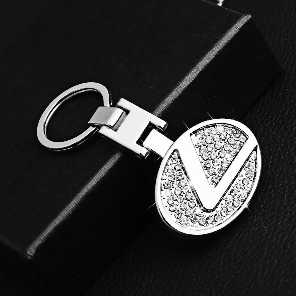 VILLSION Portachiavi per Auto Portachiavi in Metallo con Logo Lucido Lucido a Doppia Faccia