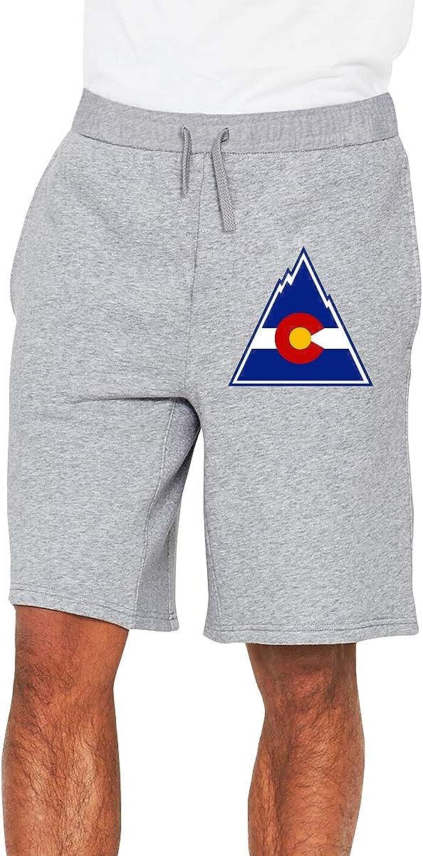 Colorado Flag Mountain Mens Shorts Mens Short Casual Pants