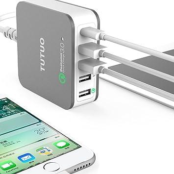 Quick Charge 3.0 USB cargador - avidet 5 puertos 40 W USB ...