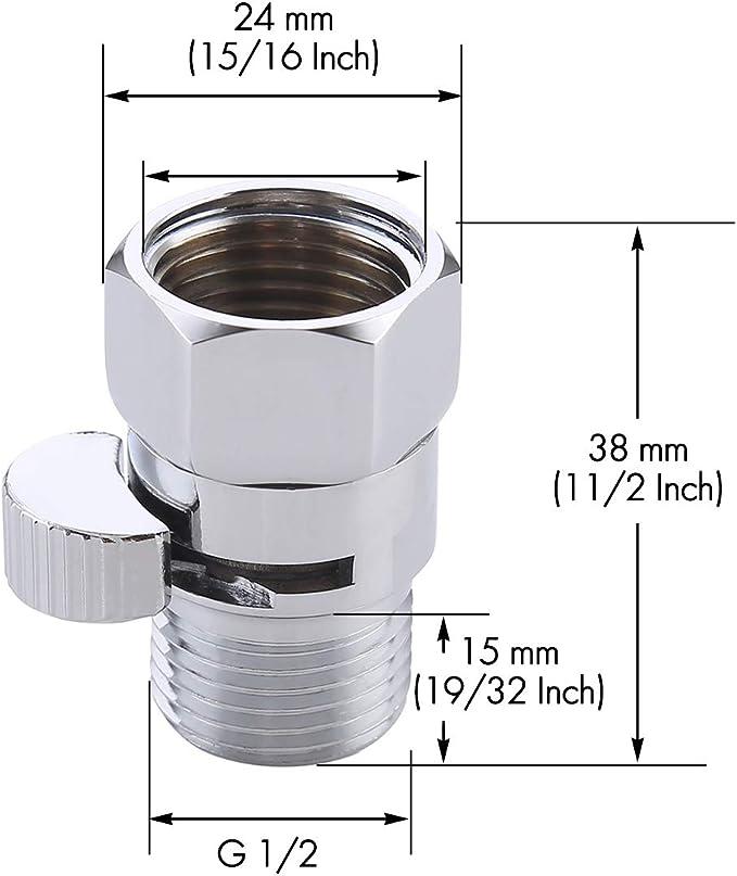 G1//2 Zoll Durchflussregelung Duschkopf Shut-Off Ventil Absperrung J1I3