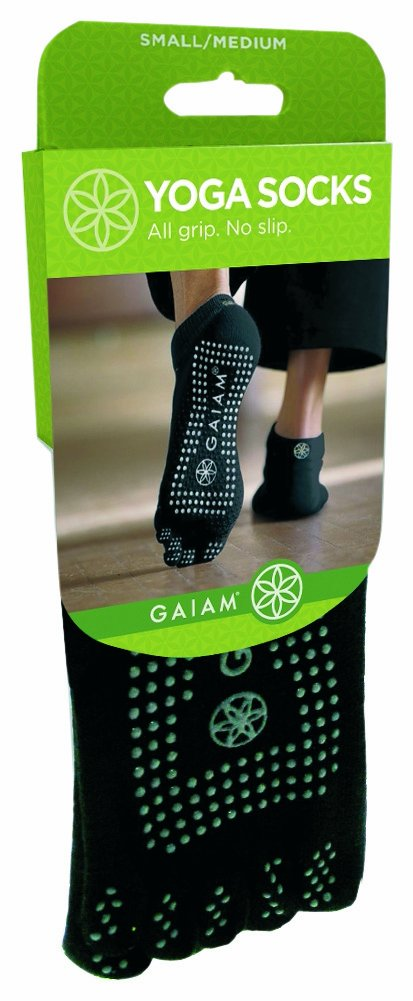 Gaiam M/L Greydot Yoga Socks Medium/Large / Bas De Yoga Moyen/Grand (Bl)Gaiam Gaiam International A LAP-KT-52204F Fitness - Accessories