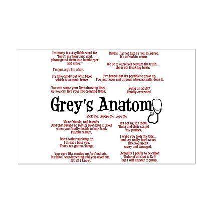 Amazon Cafepress Greys Anatomy Quotes Mini Poster Print