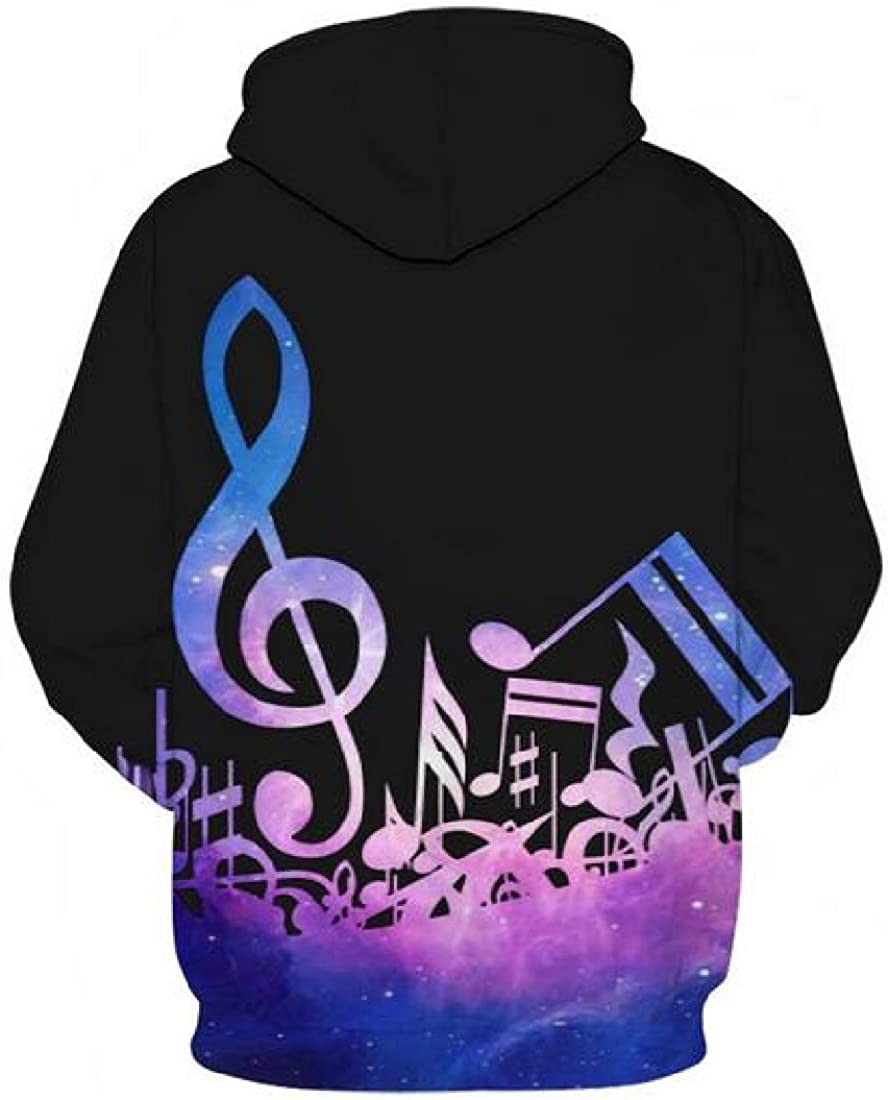 Cromoncent Mens 3D Pullover Top Printed Pullover Long-Sleeve Sweatshirts