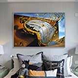 DIY Painting by Numbers for Adults The Persistence of Memory by Salvador Dali Canvas Art Kit DIY Oil Painting for Beginner