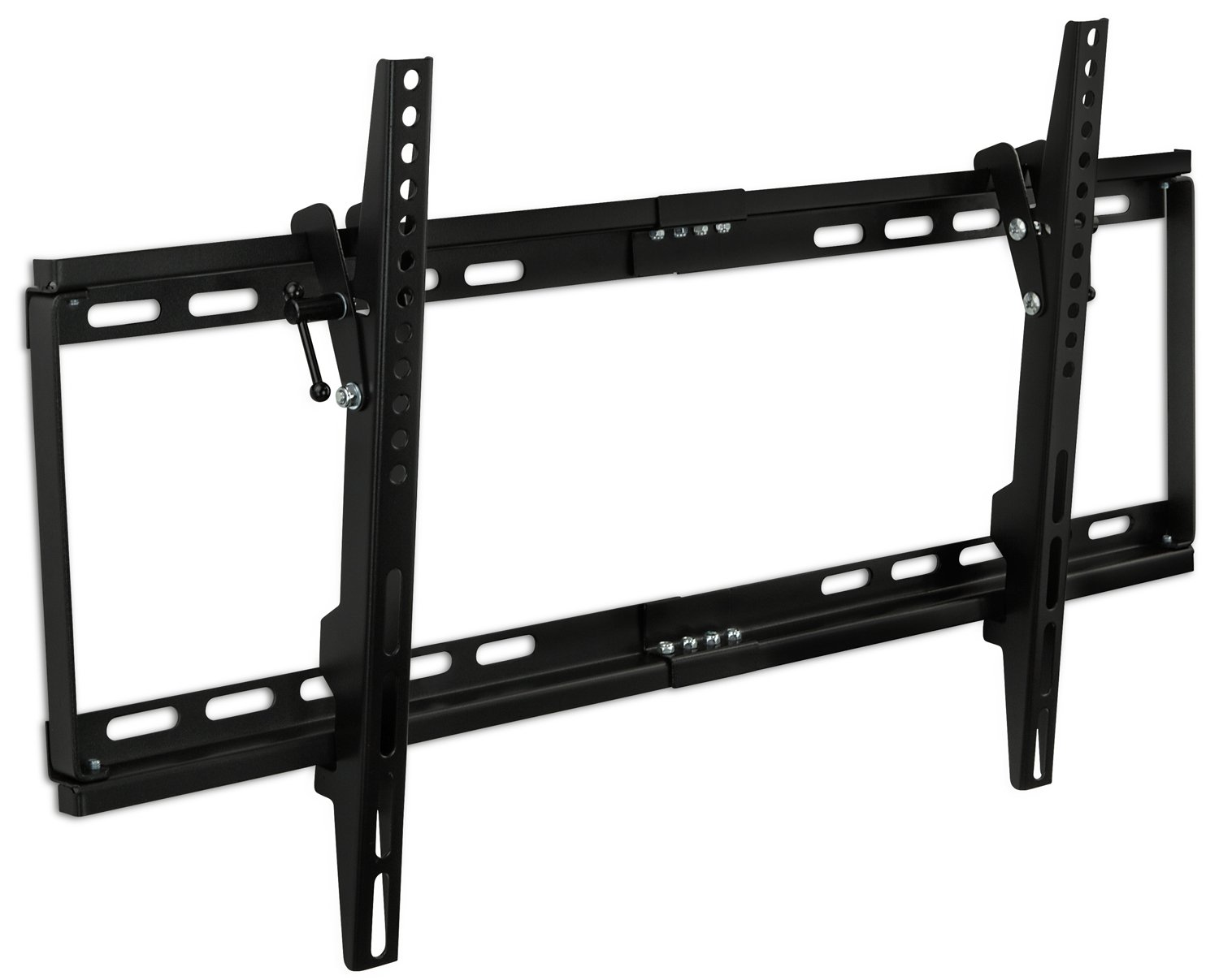Mount-It! MI-1121M Slim Tilt TV Wall Mount Bracket for LED LCD Plasma Flat Screen Panels for 32' to 65' (Many from 20-75') up to VESA 600 x 400 and 130 lbs Low Profile. 0-15 Degree Forward Adjustable Tilting Including 6 ft HDMI Cable and Leveling Bubble Fi