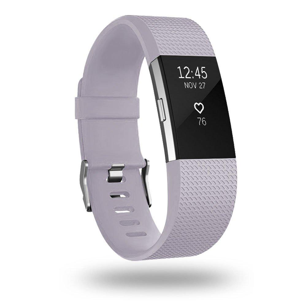 Malla Small para Fitbit Charge 2 Lavanda con gris claro -7CJ