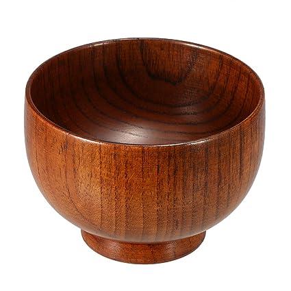 Anself - Cuenco de jabón de madera, accesorios de afeitado para hombres, color marrón