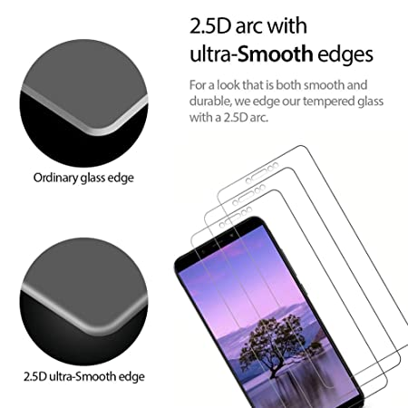 Paopi 3 Unidades Protector de Pantalla para Xiaomi Redmi Note 5 / Redmi Note 5 Pro Cristal Templado Alta Definicion 9H Dureza Sin Burbujas: Amazon.es: ...