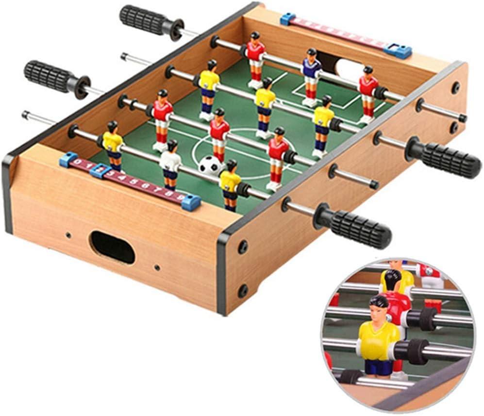 Zgifts Juegos de Mesa de futbolín de Mesa - 51 cm Cuatro Postes Madera Mini Mesa portátil Fútbol Juego de Deportes Juego de Sala Deportes para el hogar Fiesta Adultos Niños: Amazon.es: