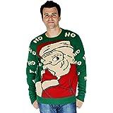 Digital Dudz Peeking Santa Ugly Christmas Sweater