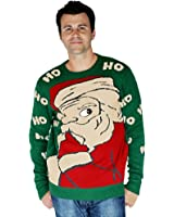 Digital Dudz Peeking Santa Ugly Christmas Sweater