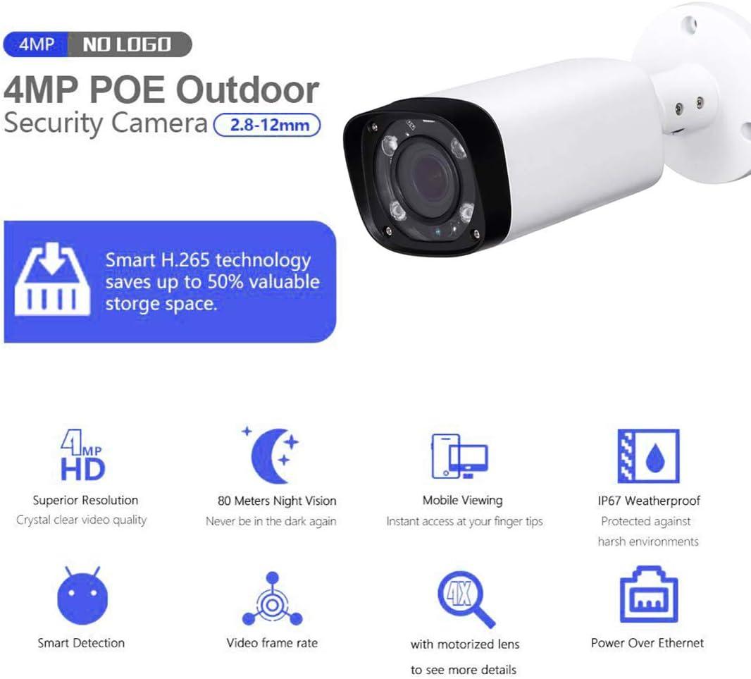 Dahua 4MP IPC-HDBW4433R-ZS Varifocal 2.7-13mm SD Card POE Network Dome IP Camera