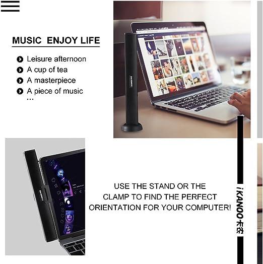 Portable Lautsprecherleiste Ikanoo Usb Kabel Powered Sound Bar Clips Auf Laptop Oder Stände Auf Dem Desktop Soundbar Lautsprecher Für Notebook Laptop Pc Tv Audio Hifi