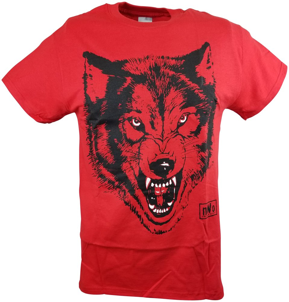 Hybrid Tees NWO Red Wolfpack New World Order Wolfpac Mens T-shirt-3XL