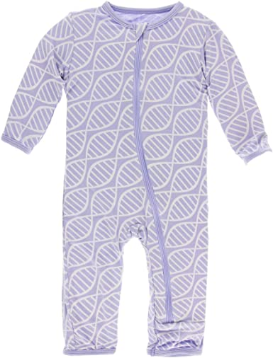 2T Toddler - Lilac Kickee Pants Little Girls Coverall