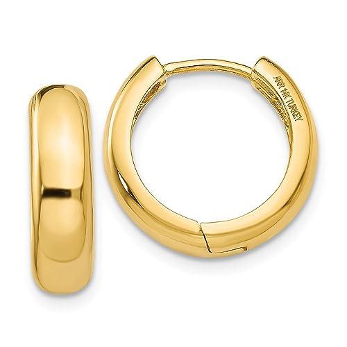 17177305fdcc9 14k Gold Huggie Earrings (0.43 in x 0.2 in)