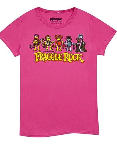 8tees - Camiseta Oficial Fraggle Rock-S, color Rosa