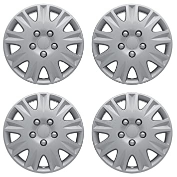 Amazon.com: 15 inch Hubcaps Best for 2005-2008 Toyota Corolla - (Set of 4) Wheel Covers 15in Hub Caps Silver Rim Cover - Car Accessories for 15 inch Wheels ...