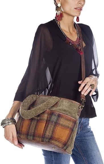 Tantrend Bolso Mujer Shopping Pana Borreguito Marrón: Amazon