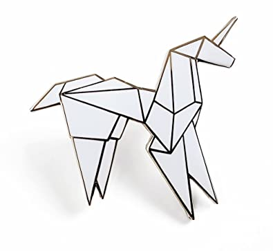 Amazon Pinsanity Origami Unicorn Enamel Lapel Pin Jewelry