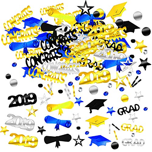 Zhanmai 4000 Pieces 2019 Graduation Confetti Grad Decoration Party Supply for Grad Party Graduation Celebration -