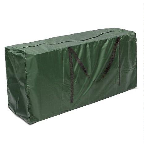 ZhongYeYuanDianZiKeJi Bolsa de Almacenamiento Cojines Jardin Ligera Impermeable para Guardar Cojín Muebles Otros Accesorios de Jardín Patio(Verde) ...