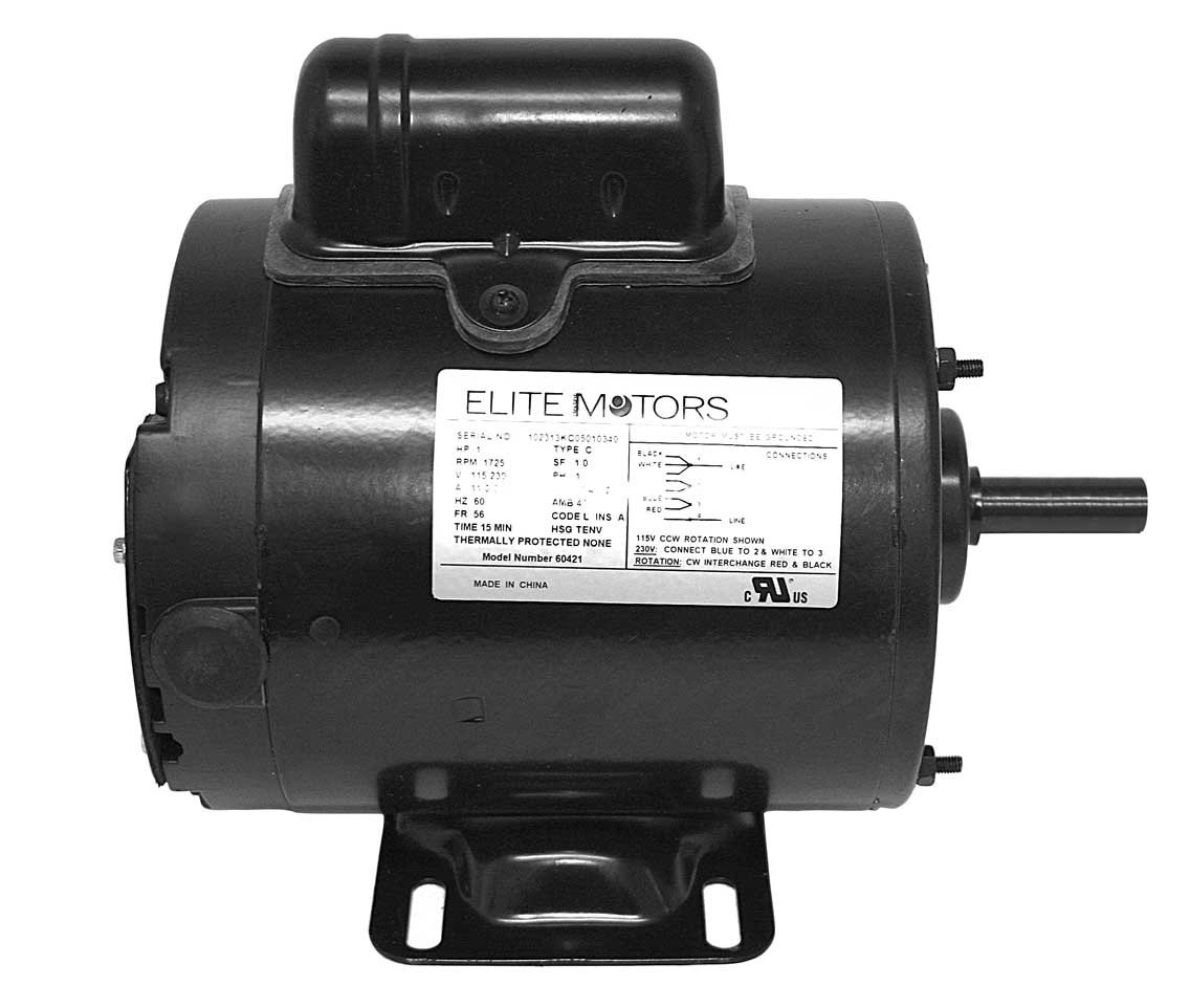 Elite 1 HP Heavy Duty Boat Lift Motor - 56 Frame