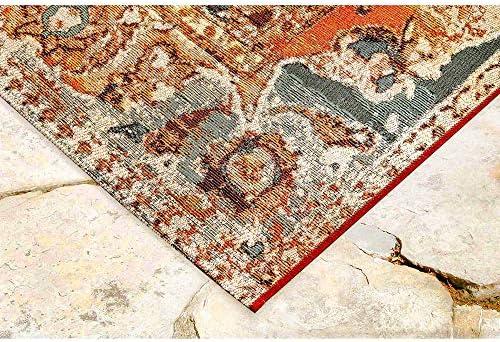 Liora Manne Marina Indoor Outdoor Rug, 8 10 x 11 9 , Tribal Stripe Denim