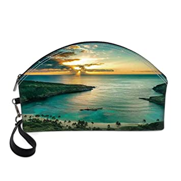 Hawaiian Decorations Small Portable Cosmetic     - Amazon com