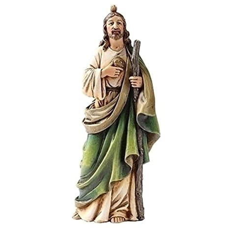 Religious Gifts Patron of Hopeless Causes Saint St Jude Statue Figure 6 Inch