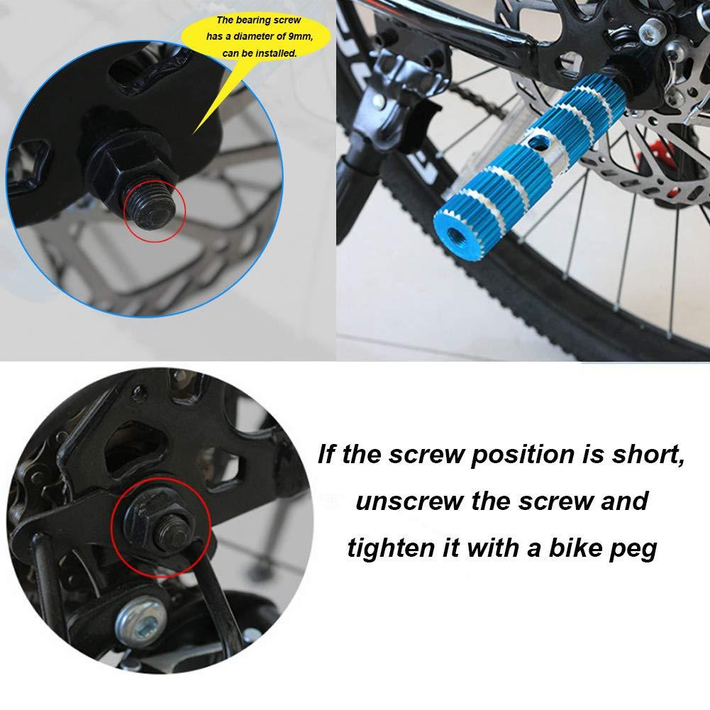 blau Mountainbike BMX Erwachsene Hinterachse mit Gewinde und Stunt-Pedal 2 Fahrrad-Pedal f/ür Vorderachse f/ür Kinder