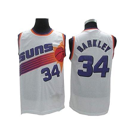 WZAAA NBA Jersey De Baloncesto, Barkley # 34 Sun Team Bordado ...