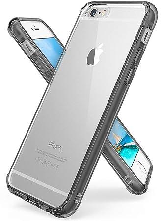 25c481e01c5 Ringke [Fusion] Funda para iPhone 6S/6 Transparente al Dorso con Tecnologia  para Proteccion a la Caida, Gris oscuro: Amazon.es: Electrónica