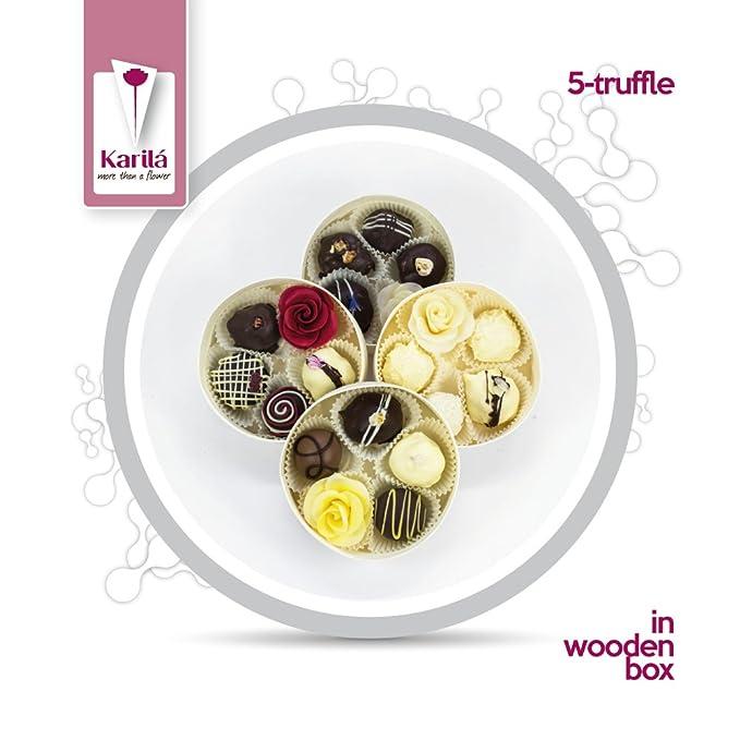 Karila 5 Trufas De Chocolate (Trufas a la carta de champán, coco y crema