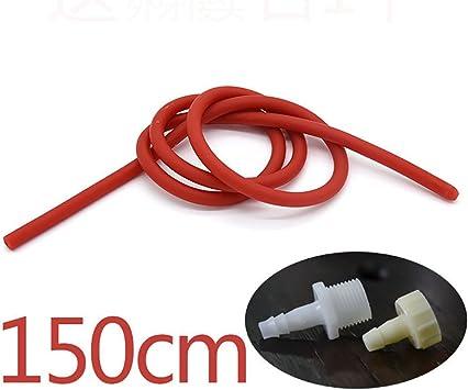 GGGarden GGGarden 50//100 150 cm langer Einlaufschlauch aus weichem Silikon//Latex-D/üse 50cm